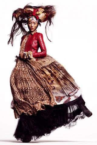 Liu Wen photographed by Thomas Schenk, for Vogue Spain, 2011 http://www.chinesefashionstyle.com/