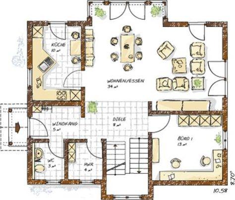 grundrisse einfamilienhaus | Einfamilienhaus Grundrisse von 120 ...