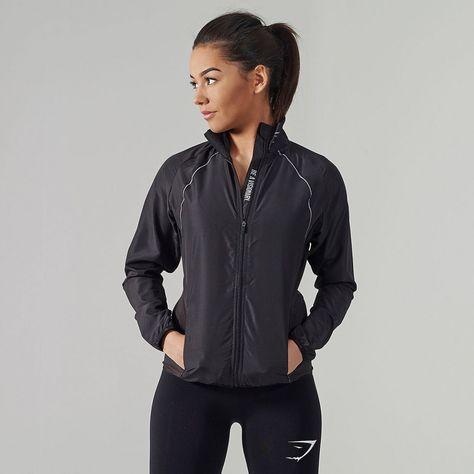 Air Zip Running Jacket | Black | Running jacket, Jackets