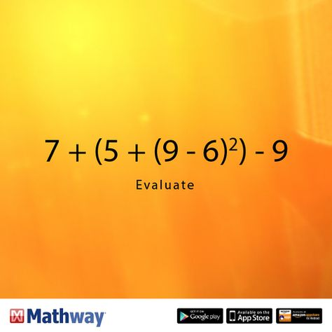 Can you evaluate this math problem? Once you've solved it ... Mathway Evaluate on