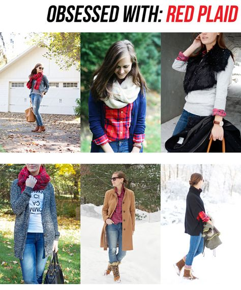 obsessed with: red plaid!