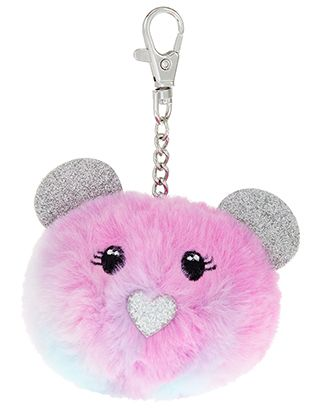 bb72152e29 Ombre Fluffy Bear Bag Charm | Key Charms | Girls accessories ...