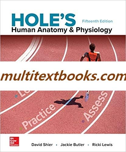 Hole S Human Anatomy Physiology 15th Edition By David Shier Isbn
