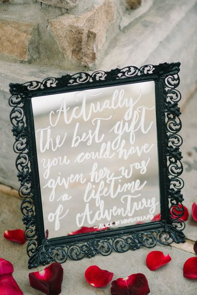Mirror Disney Quotes - These Disney Wedding Details Will Make Your Big Day Extra Magical - Photos