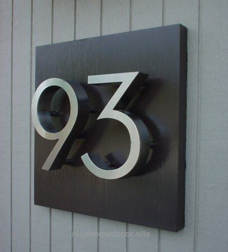 Pin On Modern Home Contemporary house numbers uk