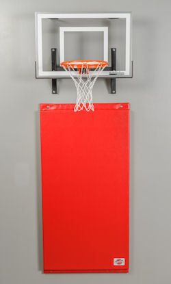 Wall Pad With Mini Pro Dura Goal Basketball Room Basketball Hoop In Bedroom Basketball Bedroom