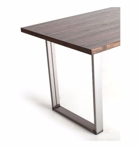 Satin Chrome Table Legs Fordesk Or Dining Clean Contemporary Lines With A Hint Of Feel