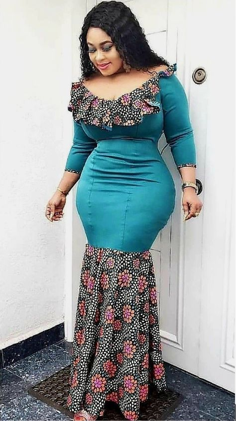 Plain and Pattern Ankara Gown Styles for Beautiful Ladies
