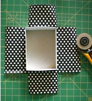 How to cover a box neatly with paper