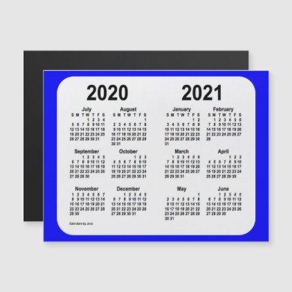 2020 2021 School Year Calendar By Janz Blue Zazzle Com