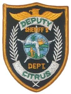 US State of Florida, Citrus County Sheriff Department Patch