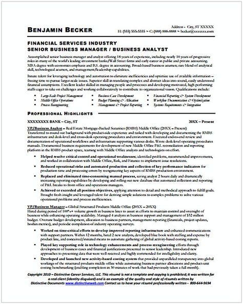 Senior Business Analyst Resume Sample Senior Business Manager Analyst Resume 1  Entry Level