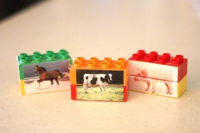 Puzzle lettere o animali con mattoncini lego