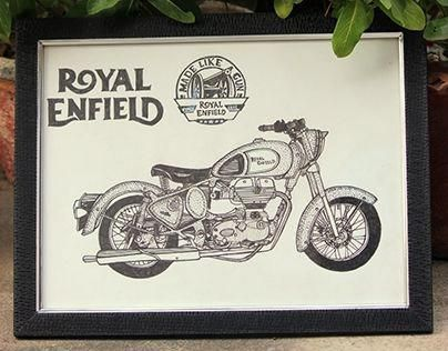 Royal Enfield Design Royalenfield Royal Enfield Bike Drawing
