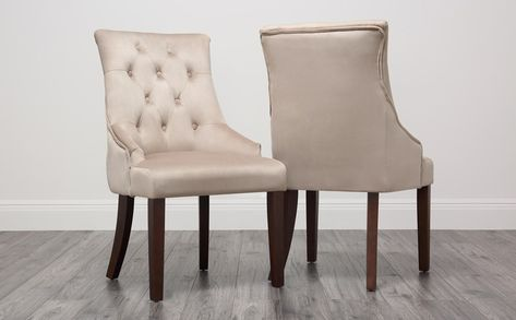 Krista Baroque Mink Dining Chair Fabric Dining Chairs Dining Chairs Velvet Dining Chairs