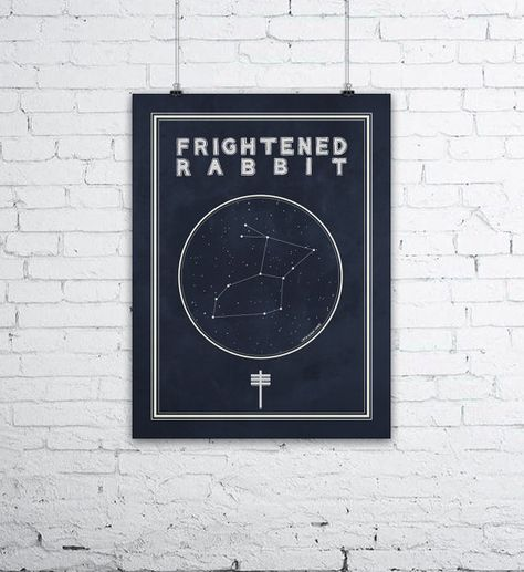 Bears Den Constellation Poster  A perfect purchase for those fans of the Scottish Folk Band, Frightened Rabbit! Or, this music print would also
