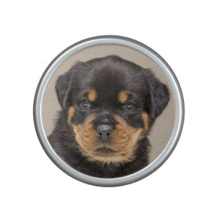 Rottweiler Puppy Portrait Bluetooth Speaker Rottweiler Puppy