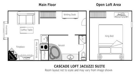 Banff Hotel Rooms Loft With Kitchenette Jacuzzi Suites