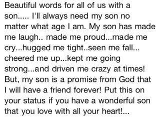 Love for a son.