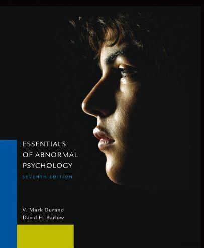 Essentials of Abnormal Psychology 7th Edition pdf free