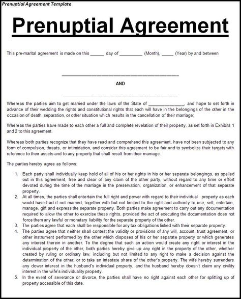 This agreement is recommended for any couple entering into a - prenuptial agreement form