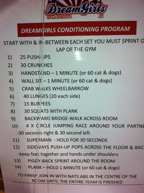 Dreamgirls cheerleading conditioning Basketball Training - cheerleading tryout score sheet