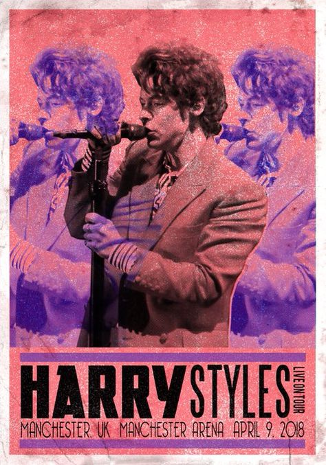 Bedroom Wall Collage, Photo Wall Collage, Picture Wall, Rock Poster, Poster Wall, Poster Prints, Gig Poster, Harry Styles Poster, Harry Styles Photos