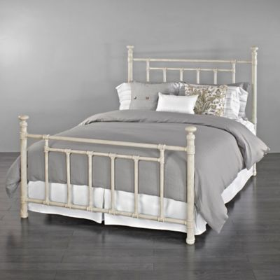 Wesley Allen Blake Iron Full Bed In Ivory