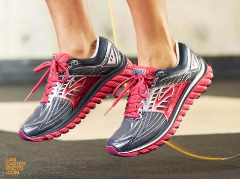 Jump rope. Brooks shoes. Athletic shoes