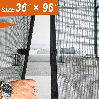 Magnetic Screen Door 36 X 96 Mosquito Patio Screens Magic Door Mesh Fit Doors Diy Screen Door French Doors With Screens Magnetic Screen Door