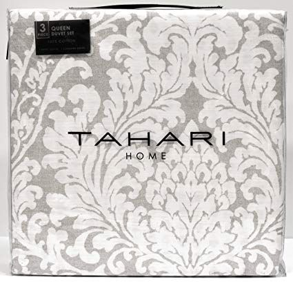 Tahari Home Vintage Damask Ornate Scroll Luxury Duvet Cover 3