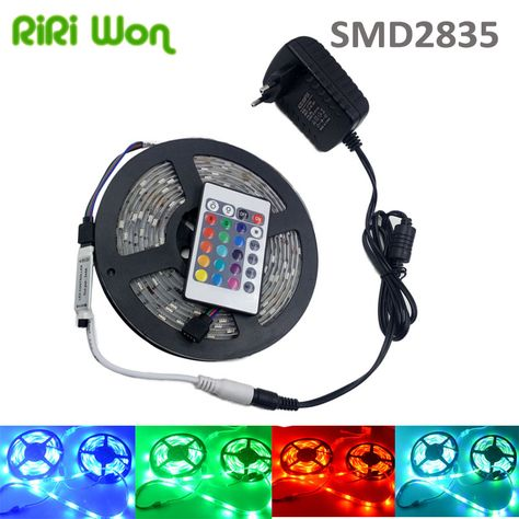 Riri Gano 20 M 15 M 10 M 5 M 12 V Flexible 2835 Rgb 3528 Smd Llevo La Tira Impermeable Rgb Diodo Cinta Cinta Ip65 Llevo L With Images Led Strip Lighting Strip Lighting Led