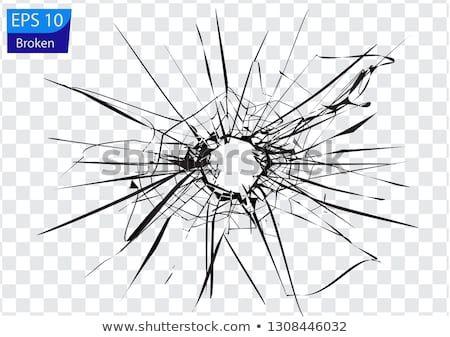 Broken Glass Cracks Bullet Marks Art Cracked Window