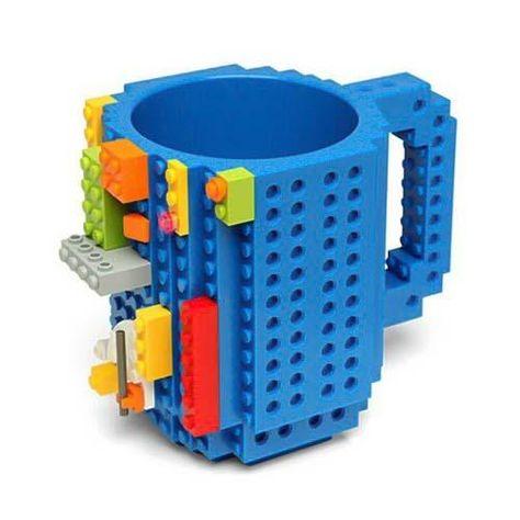 Build-On Brick - Coffee Mug - Blue