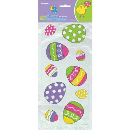 Bright Easter Cellophane Bags 20 Count Multicolor