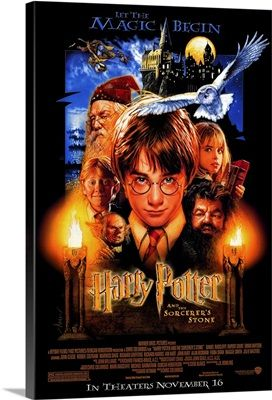 Harry Potter and the Sorcerers Stone (2001) Solid-Faced Canvas Print