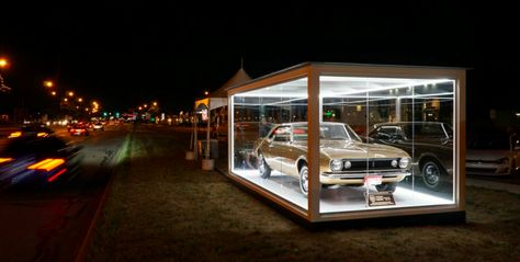 Check Out The Very First Camaro Prototype On Display In This Huge Glass…