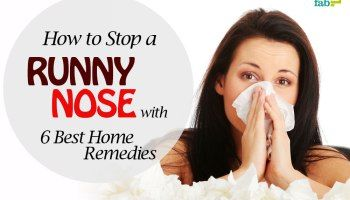 How To Stop A Runny Nose With 6 Best Home Remedies Stuffy Nose