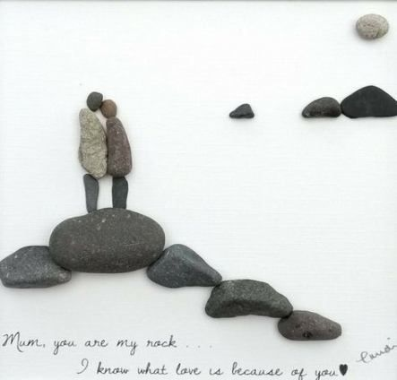 Mum On Pebble Love You For Ever Figurine
