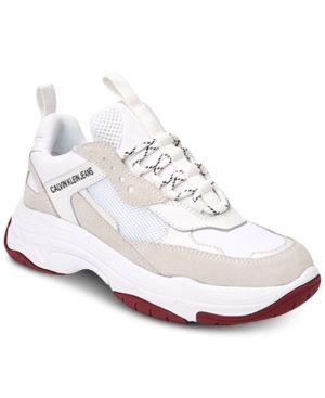 Calvin Klein Women S Maya Sneakers White 10 5m Sneaker Outfits Women Calvin Klein Women Sneakers