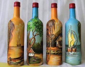 Compro Botellas De Vino Antiguas Etsy El Lugar Para Comprar Y Vender Todo Lo Que Esta Hecho A
