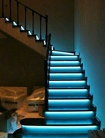 12 Volt Led Strip Light Kit 32 Foot Staircase Design Diy Stairs Strip Lighting