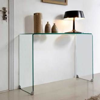 console en verre fly free table fly verre trempe with. Black Bedroom Furniture Sets. Home Design Ideas