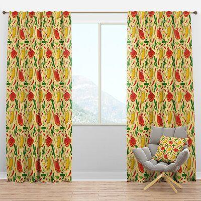 East Urban Home Designart Mexican Woman Pattern Tropical Curtain
