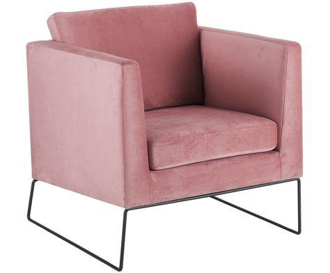 Machen Sie Ihr Wohnzimmer Mit Samt Sessel Mody In Rosa Zur
