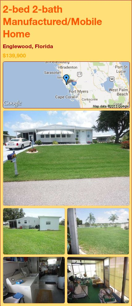 2 bed 2 bath manufactured mobile home in englewood florida rh pinterest com