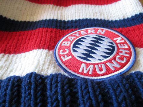 Knitting Fan Beanie Fc Bayern Munich Knitting And Crochet