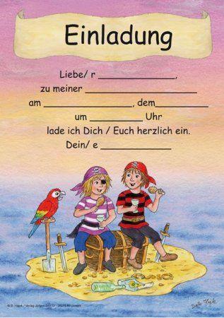 Einladungskarte Kindergeburtstag Ausdrucken | Einladungskarten Geburtstag |  Pinterest | Einladungskarten Kindergeburtstag, Einladungskarten Und ...