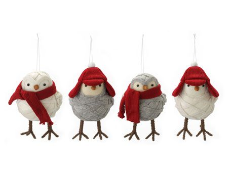 Felt owl ornaments, $5 for a set of two, HomeSense. - Slide 6 of 10 - Photo gallery: 10 awesome holiday decor products