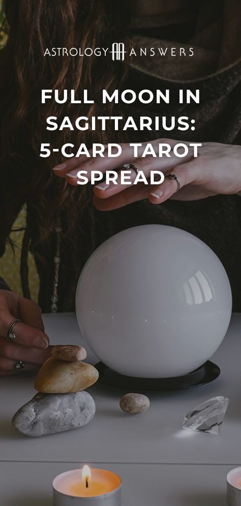 Connect to yourself and the Lunar Eclipse with this 5-card Full Moon in Sagittarius Tarot spread. #fullmoon #sagittarius #fullmoonsagittarius #lunareclipse #tarotspread #fullmoontarot #sagittariustarot #lunareclipsetarot